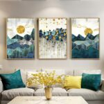 Abstract_Mountain_Landscape_Blue_Jade_Green_Golden_Contemporary_Wall_Art_Posters_Fine_Art_Canvas_Prints_Nordic_Pictures_For_Modern_Home_Decor